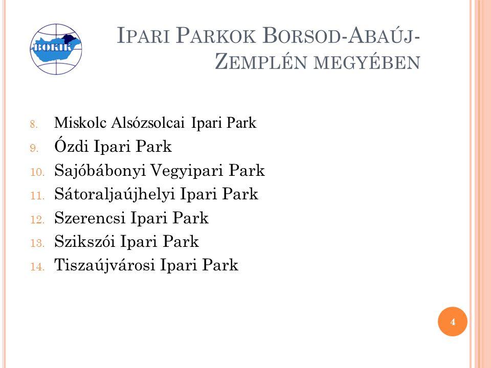 I PARI P ARKOK B ORSOD -A BAÚJ - Z EMPLÉN MEGYÉBEN 8.