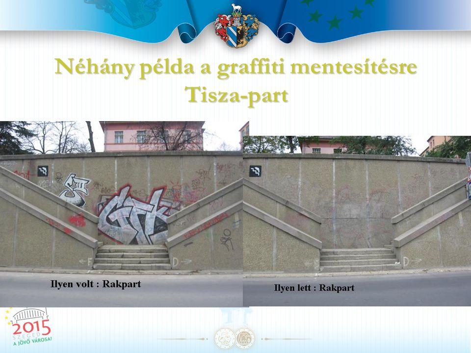 Néhány példa a graffiti mentesítésre Tisza-part