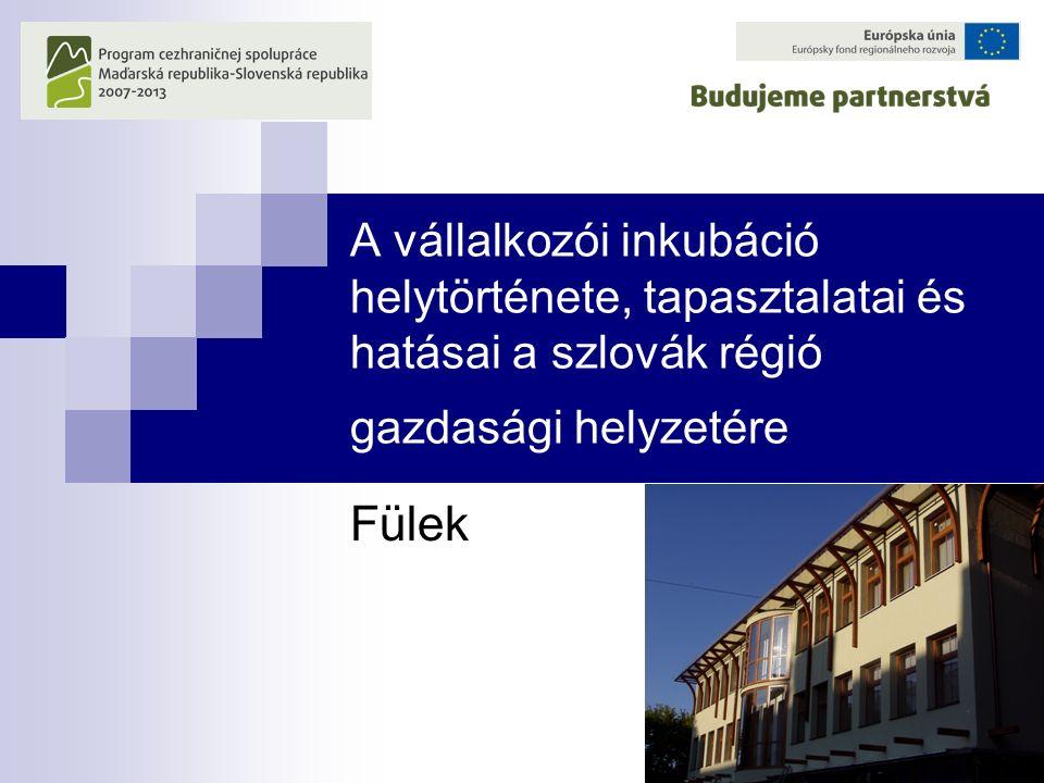 A vállalkozói inkubáció helytörténete, tapasztalatai és hatásai a szlovák régió gazdasági helyzetére Fülek