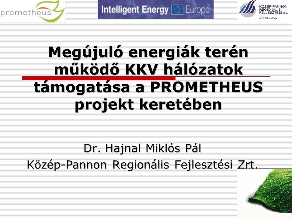 Megújuló energiák terén működő KKV hálózatok támogatása a PROMETHEUS projekt keretében Dr.