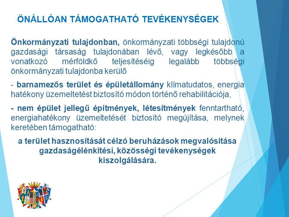 ÖNÁLLÓAN TÁMOGATHATÓ TEVÉKENYSÉGEK II.A.