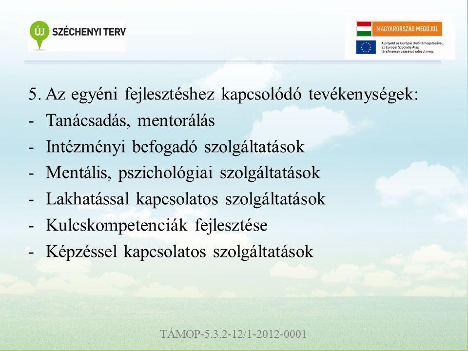 TÁMOP-5.3.2-12/1-2012-0001 5.