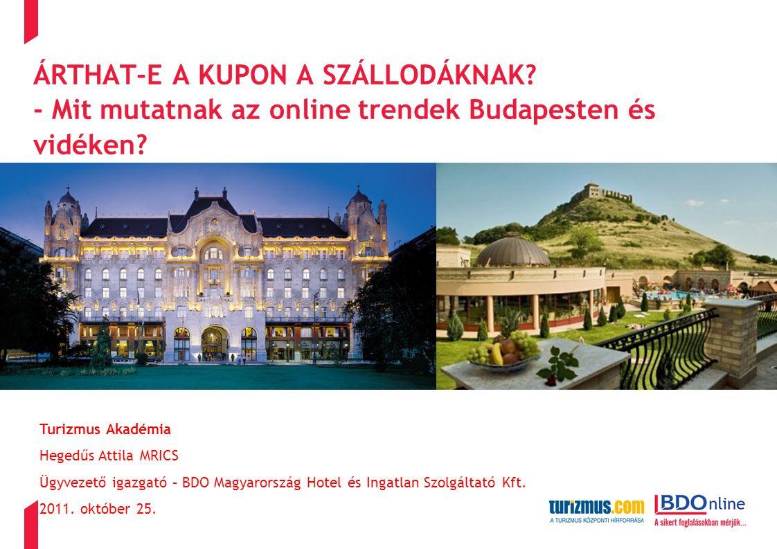 ÁRTHAT-E A KUPON A SZÁLLODÁKNAK. - Mit mutatnak az online trendek Budapesten és vidéken.