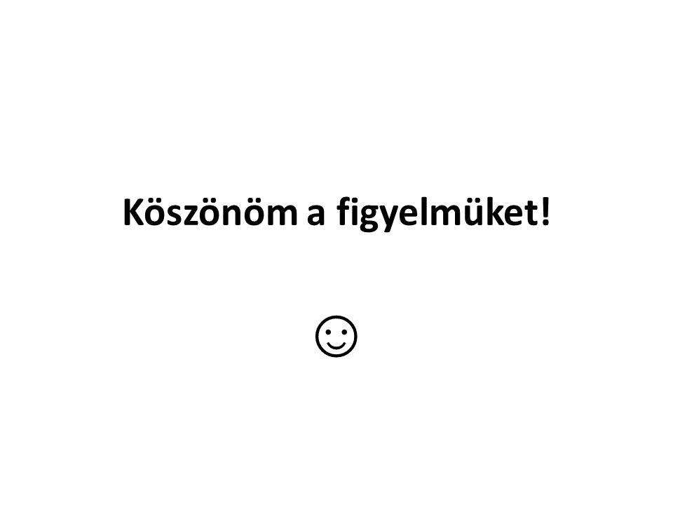 Köszönöm a figyelmüket! ☺
