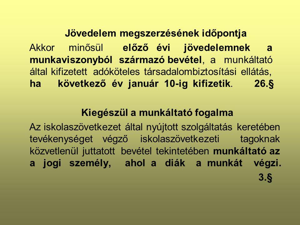 Béren kívüli juttatásnak minősül - Széchenyi-pihenőkártya /Több juttatótól együttesen/ Szálláshely alszámlára adható legfeljebb 225 000 Ft Vendéglátás alszámlára adható legfeljebb 150 000 Ft Szabadidő alszámlára adható legfeljebb 75 000 Ft adható.