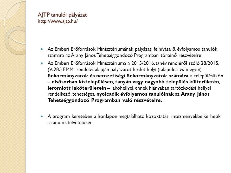 Az Emberi Erőforrások Minisztériumának pályázati felhívása 8.