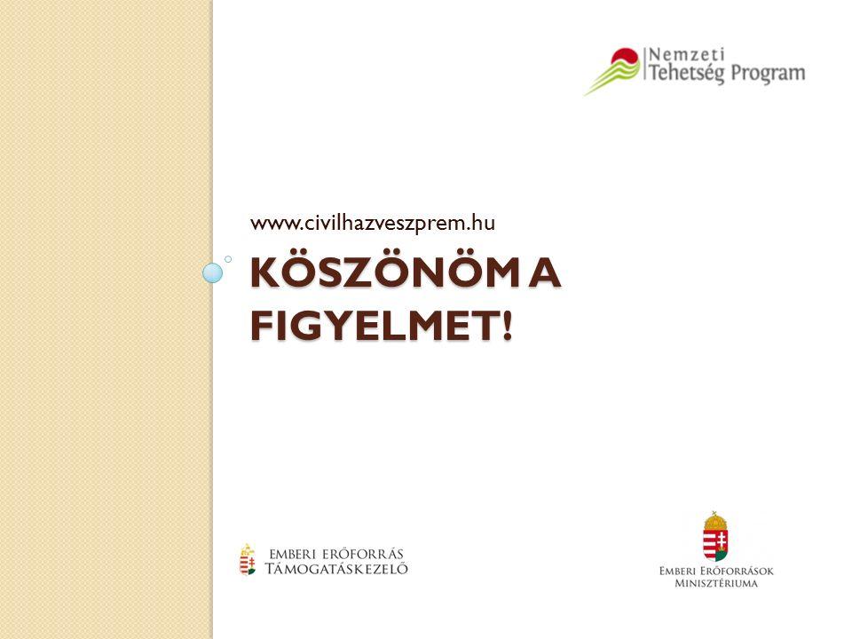 KÖSZÖNÖM A FIGYELMET! www.civilhazveszprem.hu
