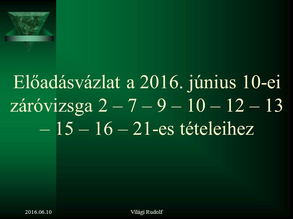 Világi Rudolf KIVÁLASZTÁS, mint az alkalmas munkaerő megtalálásának folyamata 2016.06.10