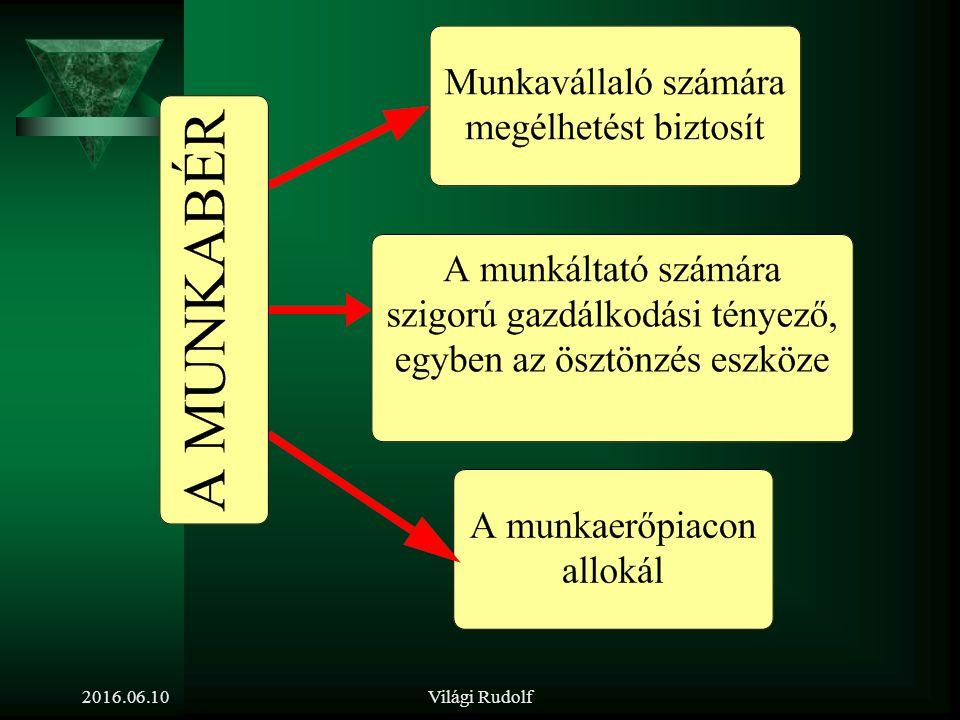 Mi határozza meg a fizetést 2016.06.10Világi Rudolf