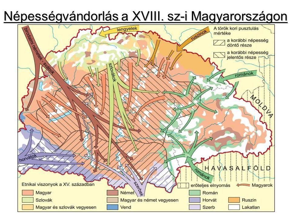 Népességvándorlás a XVIII. sz-i Magyarországon