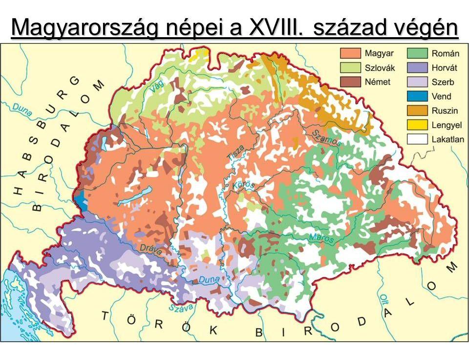 Magyarország népei a XVIII. század végén