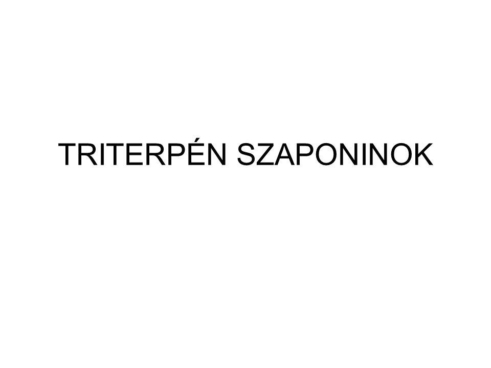TRITERPÉN SZAPONINOK