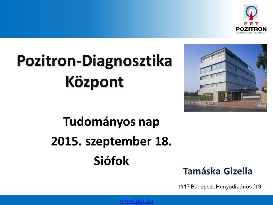 www.pet.hu Pozitron-Diagnosztika Központ Tudományos nap 2015.