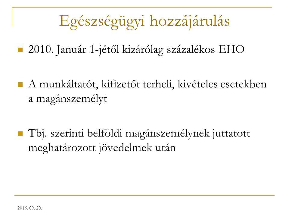 Egészségügyi hozzájárulás 2010.
