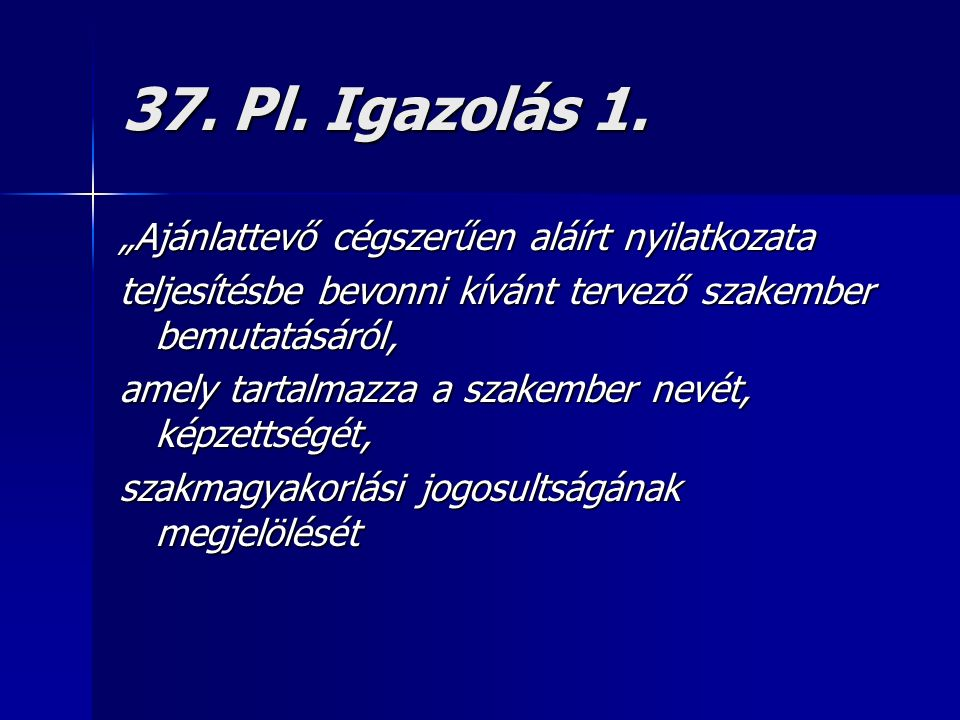 37. Pl. Igazolás 1.