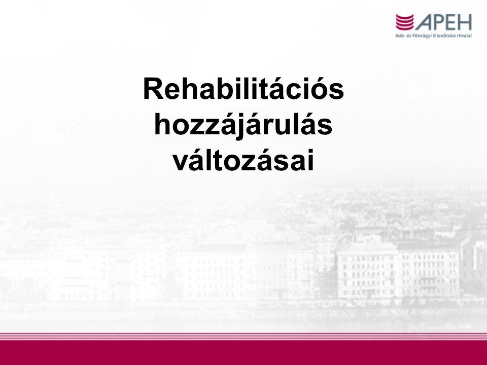 Rehabilitációs hozzájárulás változásai