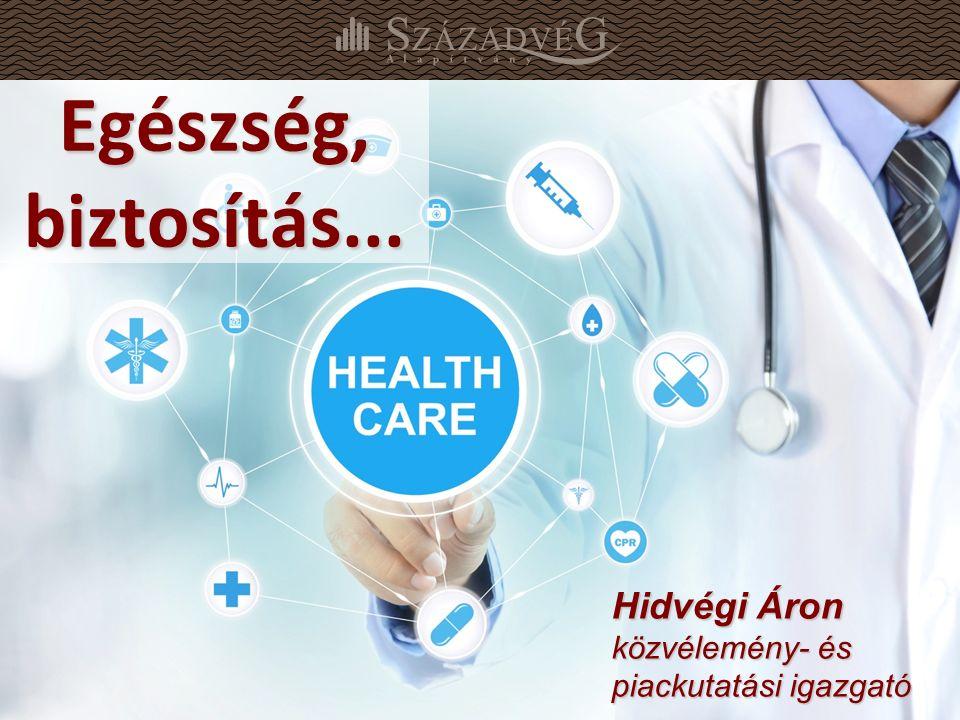 1 Egészség, biztosítás... Hidvégi Áron közvélemény- és piackutatási igazgató