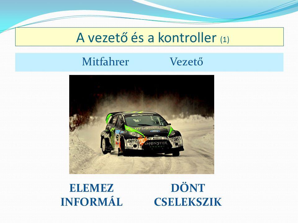 A vezető és a kontroller (1) DÖNT CSELEKSZIK ELEMEZ INFORMÁL Mitfahrer Vezető