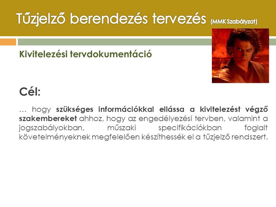 Kivitelezési tervdokumentáció Cél: … hogy szükséges információkkal ellássa a kivitelezést végző szakembereket ahhoz, hogy az engedélyezési tervben, va