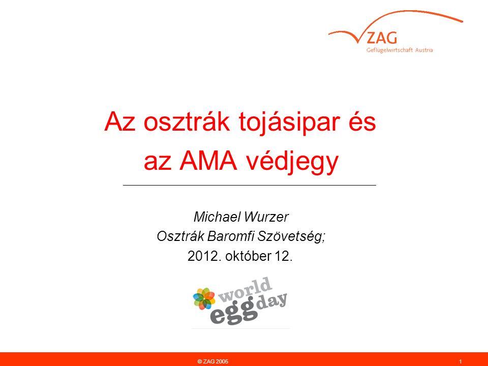 Az osztrák tojásipar és az AMA védjegy ________________________________________________________ Michael Wurzer Osztrák Baromfi Szövetség; 2012.