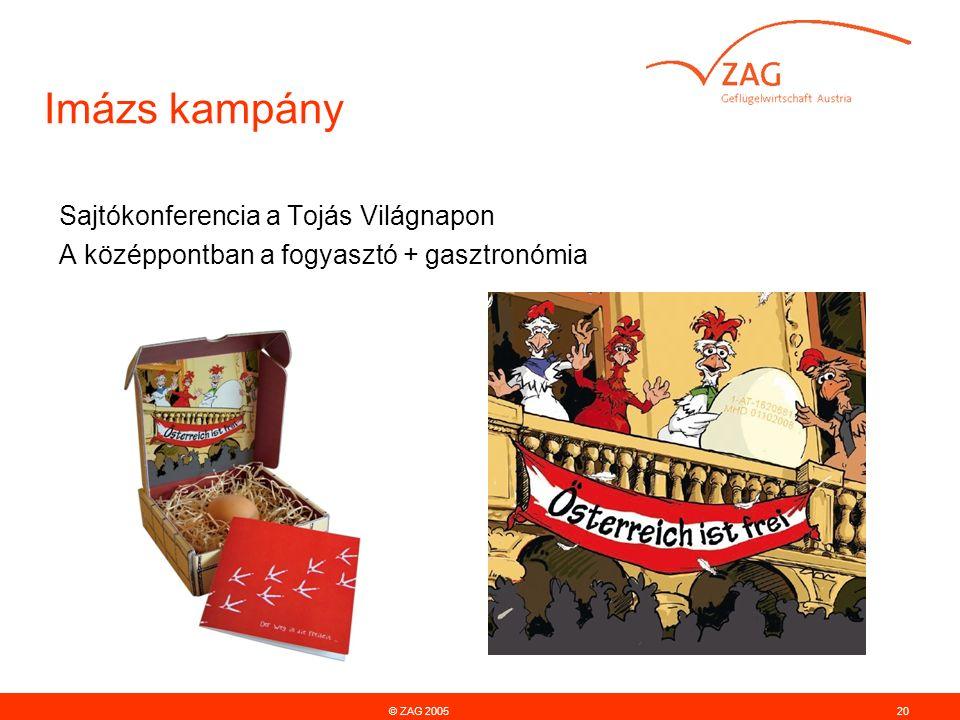 © ZAG 200520 Imázs kampány Sajtókonferencia a Tojás Világnapon A középpontban a fogyasztó + gasztronómia