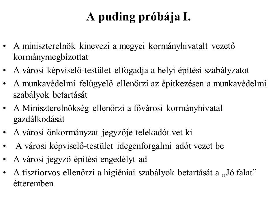 A puding próbája I.