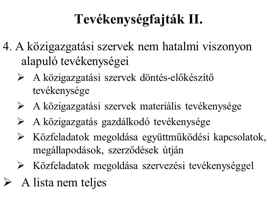 Tevékenységfajták II. 4.