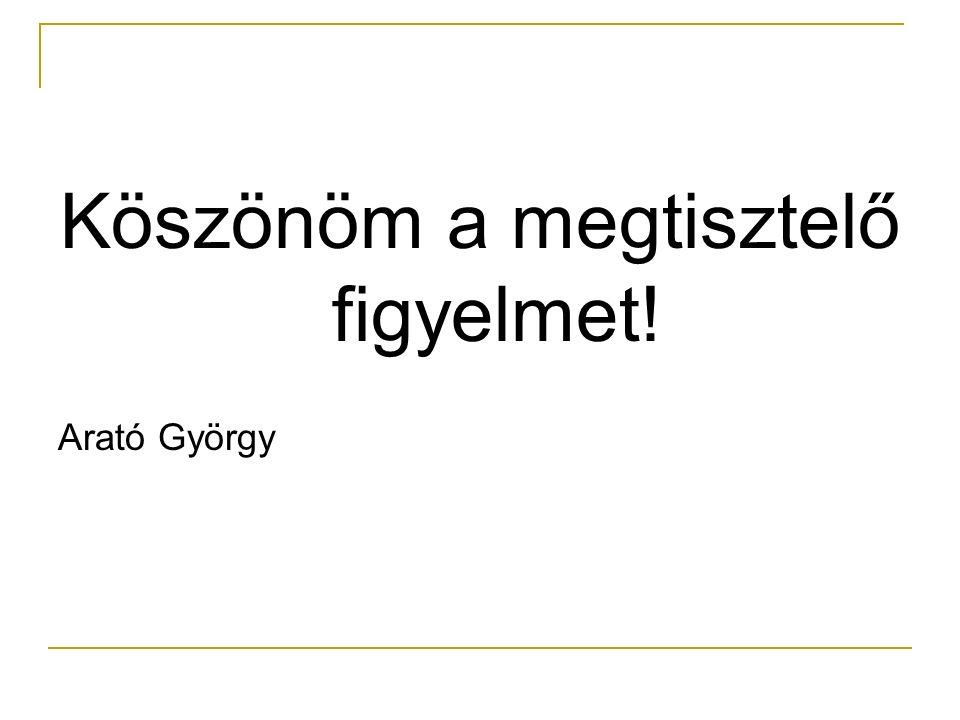Köszönöm a megtisztelő figyelmet! Arató György