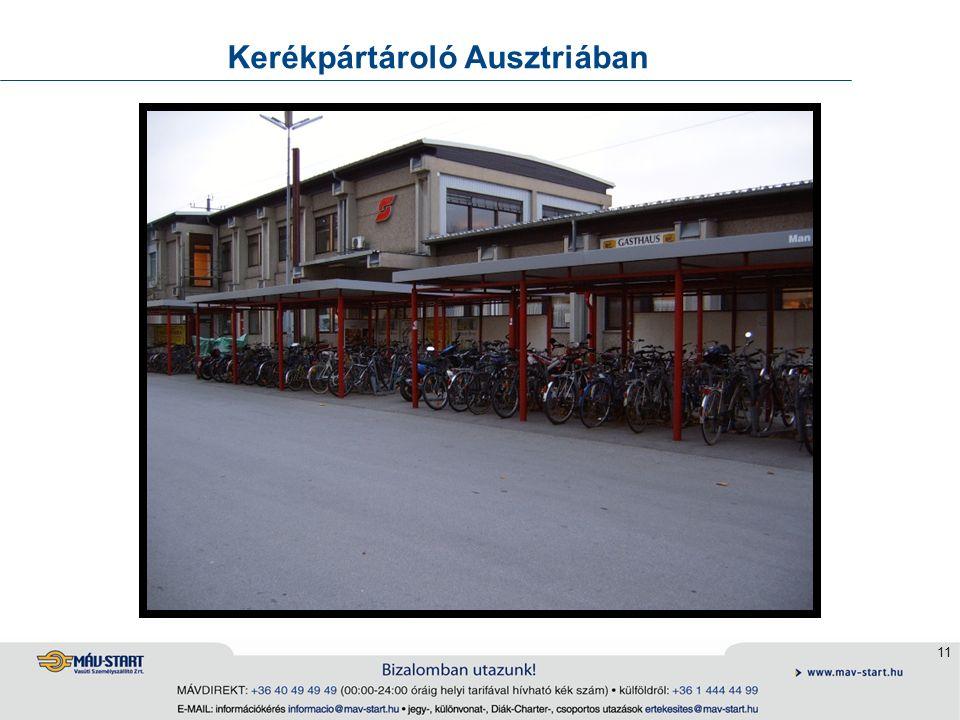 11 Kerékpártároló Ausztriában