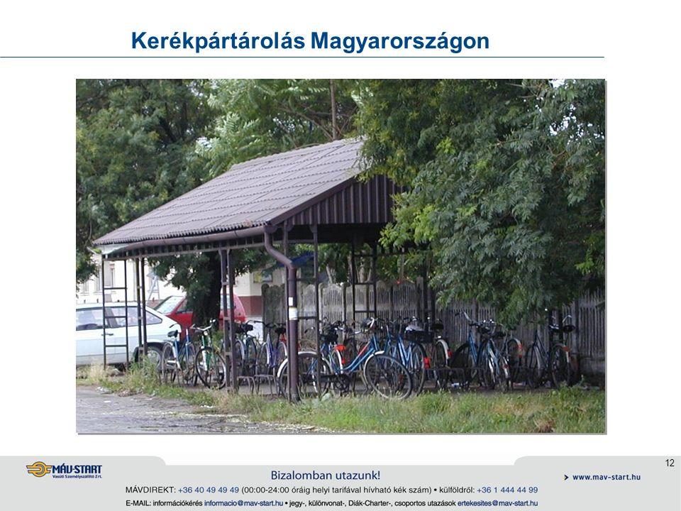 12 Kerékpártárolás Magyarországon