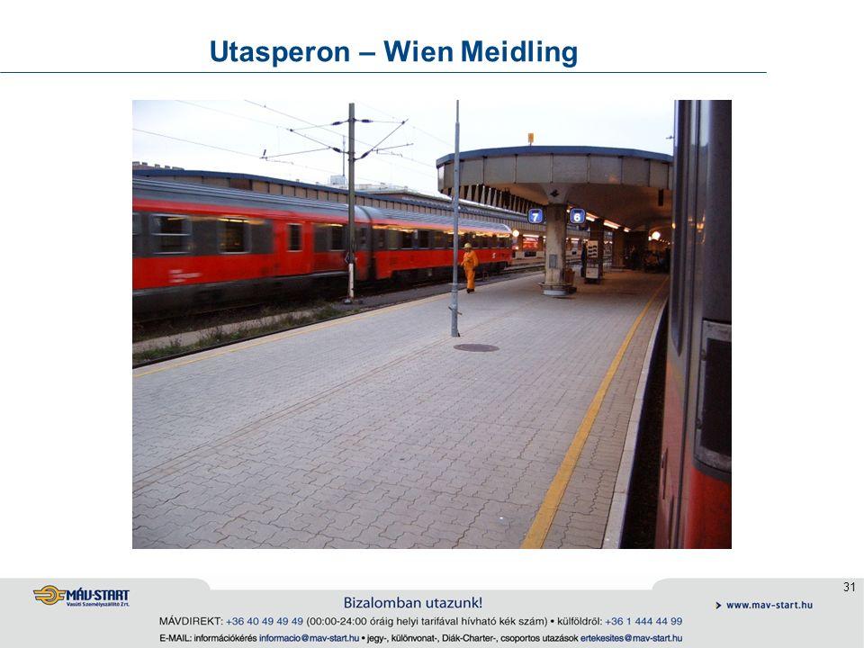 31 Utasperon – Wien Meidling