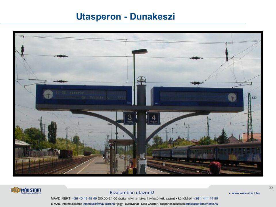 32 Utasperon - Dunakeszi