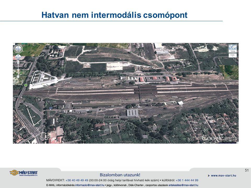 51 Hatvan nem intermodális csomópont