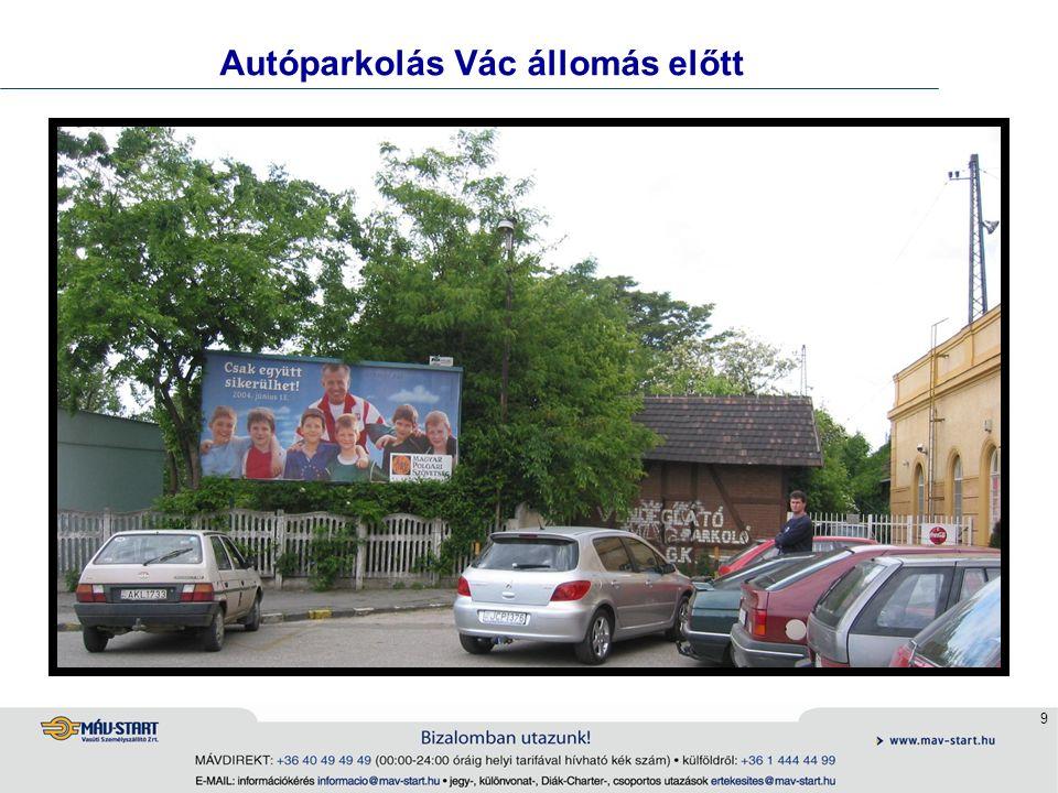 10 Autóparkoló Ausztriában a peron mellett