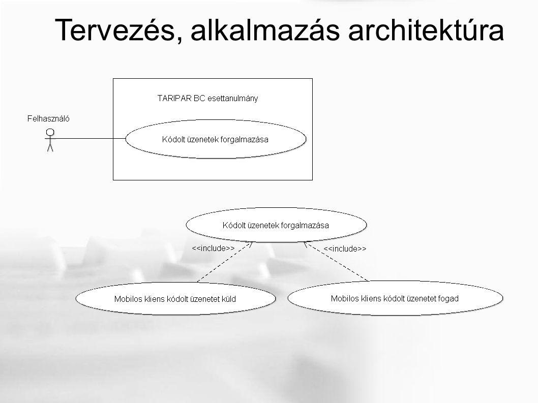 Tervezés, alkalmazás architektúra