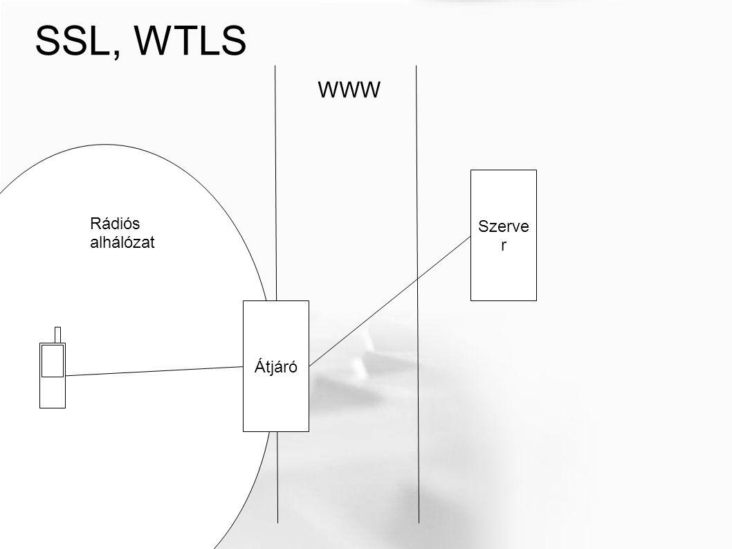 SSL, WTLS WWW Szerve r Rádiós alhálózat Átjáró