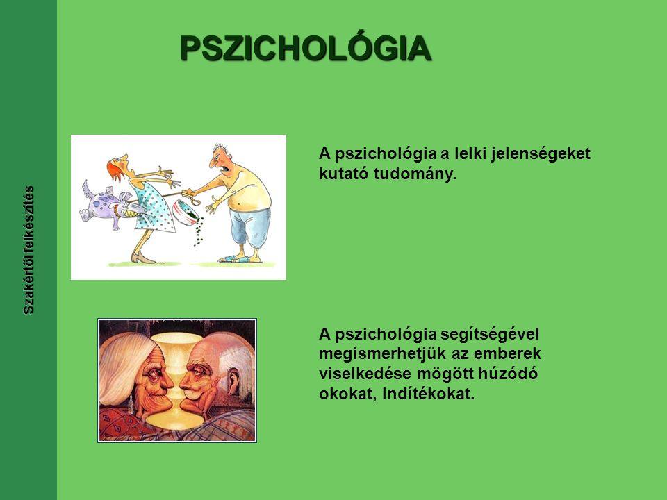 PSZICHOLÓGIA A pszichológia a lelki jelenségeket kutató tudomány.