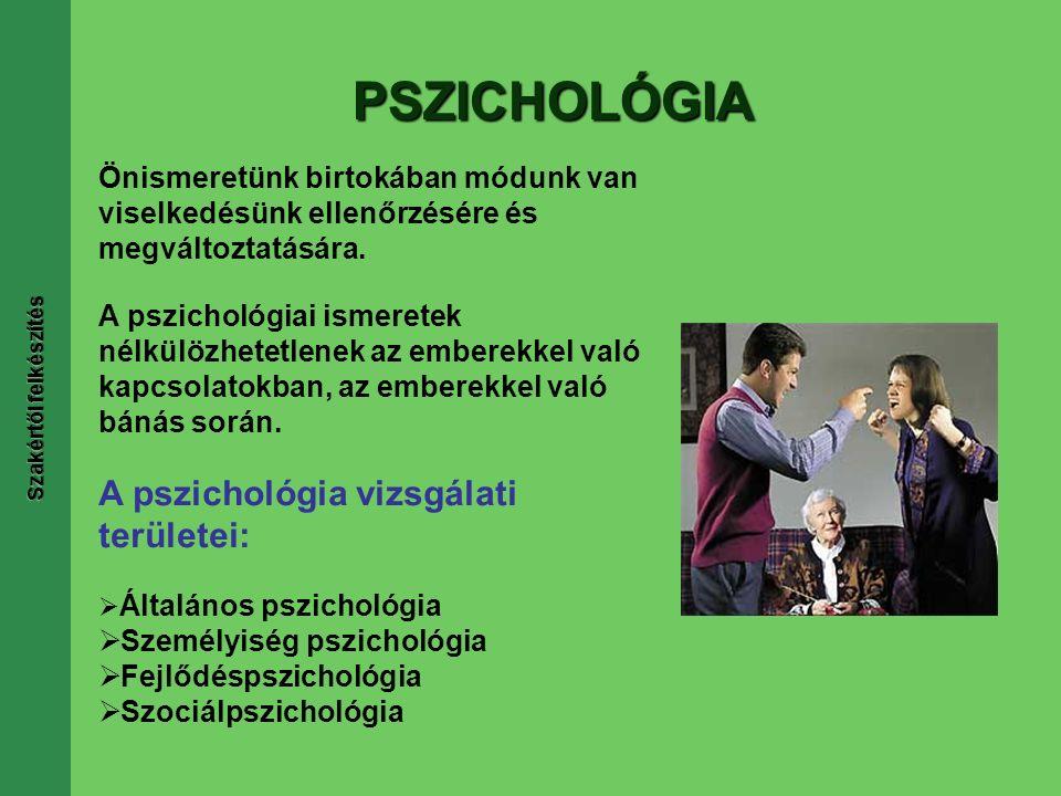PSZICHOLÓGIA Önismeretünk birtokában módunk van viselkedésünk ellenőrzésére és megváltoztatására.