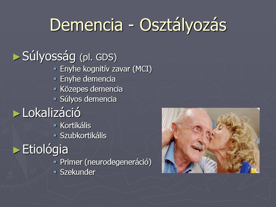 Demencia - Osztályozás ► Súlyosság (pl.