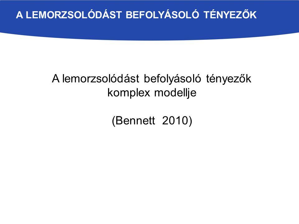 A LEMORZSOLÓDÁST BEFOLYÁSOLÓ TÉNYEZŐK A lemorzsolódást befolyásoló tényezők komplex modellje (Bennett 2010)