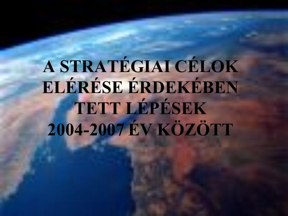 A STRATÉGIAI CÉLOK ELÉRÉSE ÉRDEKÉBEN TETT LÉPÉSEK 2004-2007 ÉV KÖZÖTT