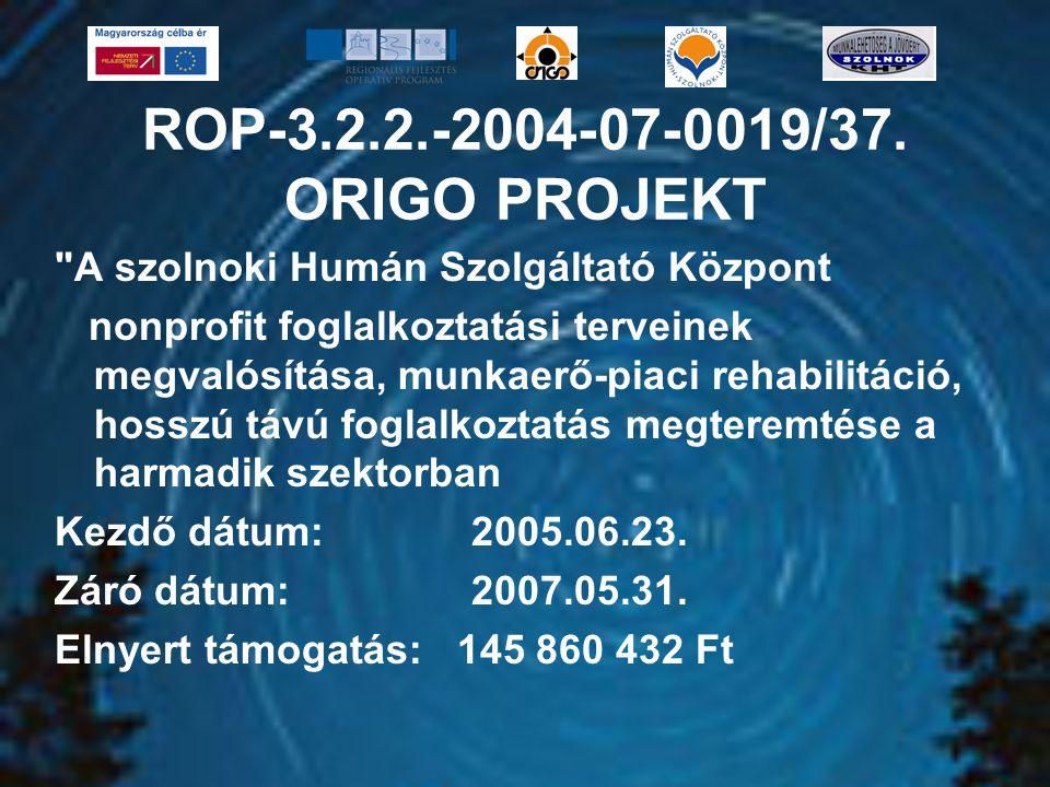 ROP-3.2.2.-2004-07-0019/37. ORIGO PROJEKT