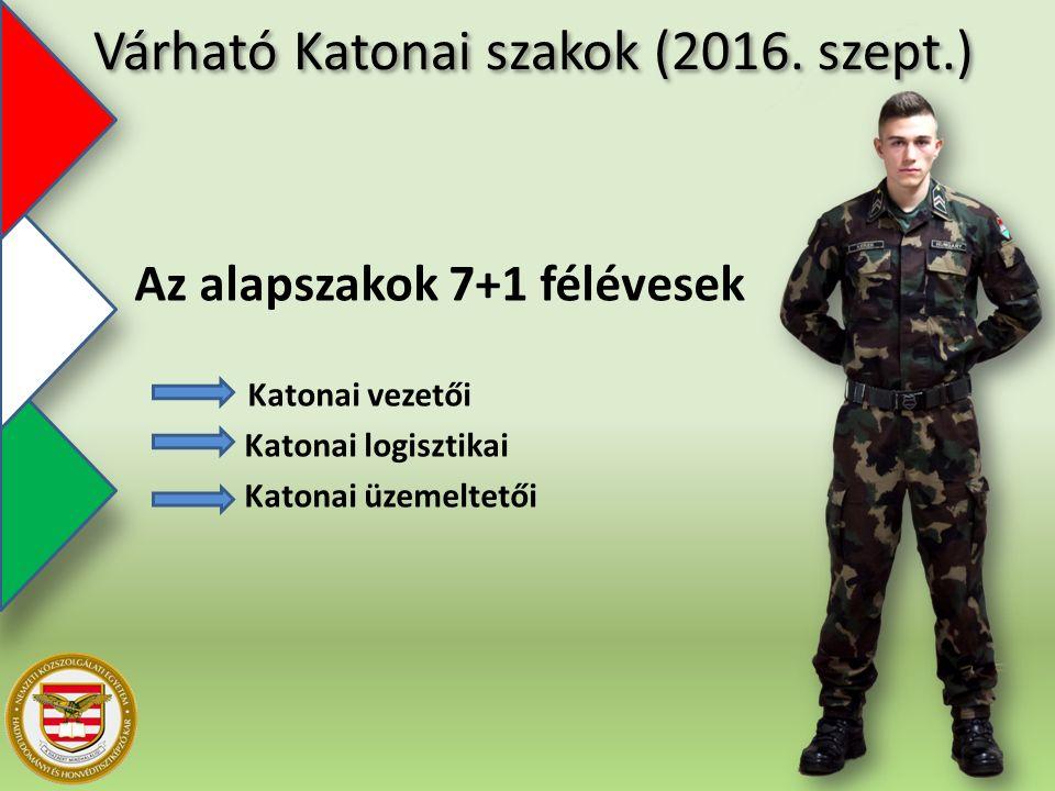 Várható Katonai szakok (2016.