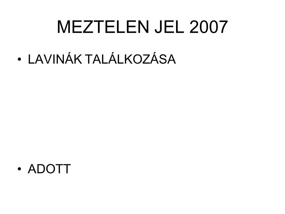 MEZTELEN JEL 2007 LAVINÁK TALÁLKOZÁSA ADOTT