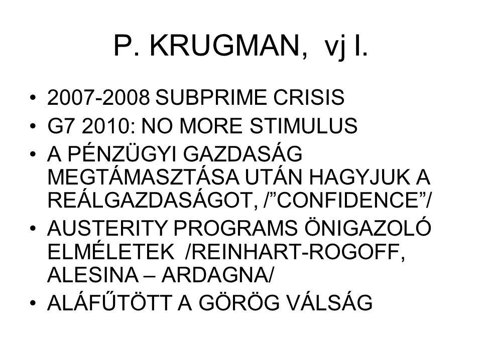 P. KRUGMAN, vj I.