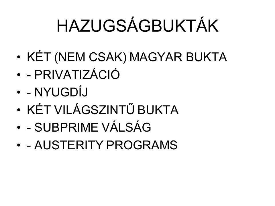Az államháztartás alrendszerei