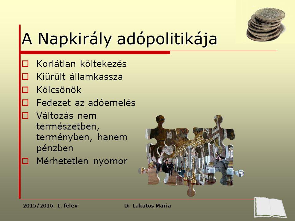 Dr Lakatos Mária2015/2016. I.