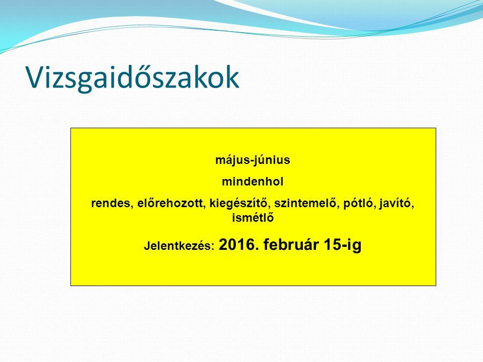 A képzési területek alapszakokra bomlanak (az alapszakonkénti intézményi irányszámok a felvételi tájékoztatóban december 15-től) Pl.