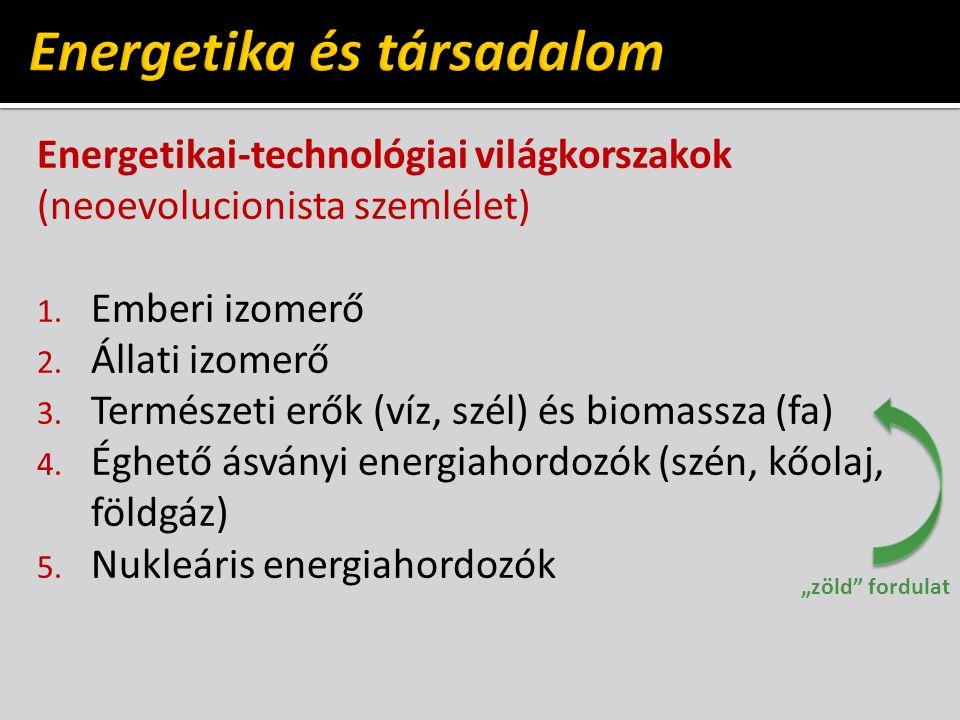 Energetikai-technológiai világkorszakok (neoevolucionista szemlélet) 1.