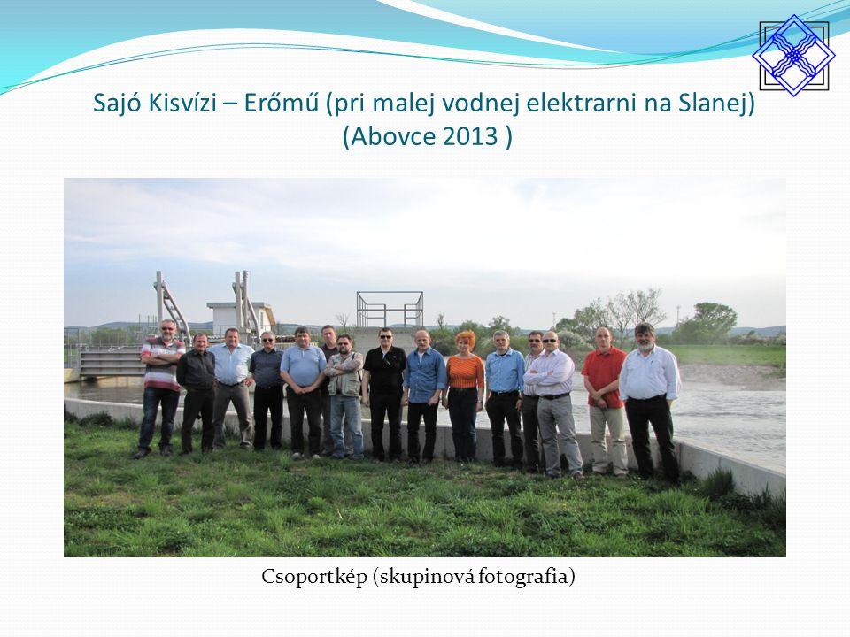 Sajó Kisvízi – Erőmű (pri malej vodnej elektrarni na Slanej) (Abovce 2013 ) Csoportkép (skupinová fotografia)